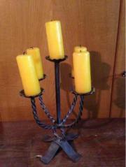Kerzenständer Schmiedeeisen 5 Arme mit