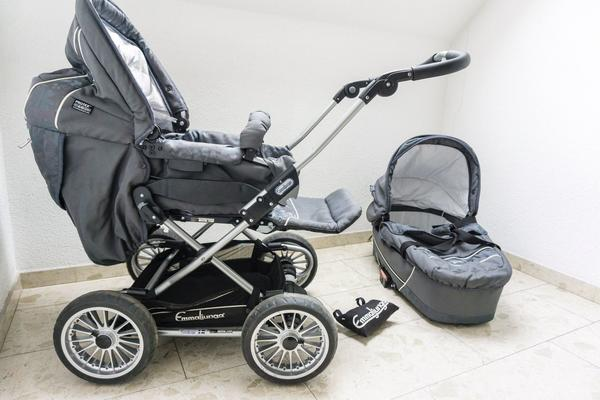 Zwillingskinderwagen emmaljunga  Kinderwagen Emmaljunga City Cross inkl. Babywanne in Rheinstetten ...