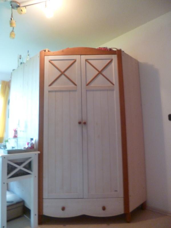 Kinderzimmer von Paidi weiß-honigfarben (Eckschrank, 2 Betten ...