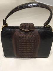 Krokoleder Handtasche / Vintage-