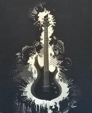 Kunstdruck Gitarre auf