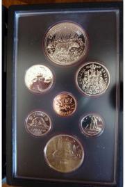 Kursmünzensatz Kanada 1980
