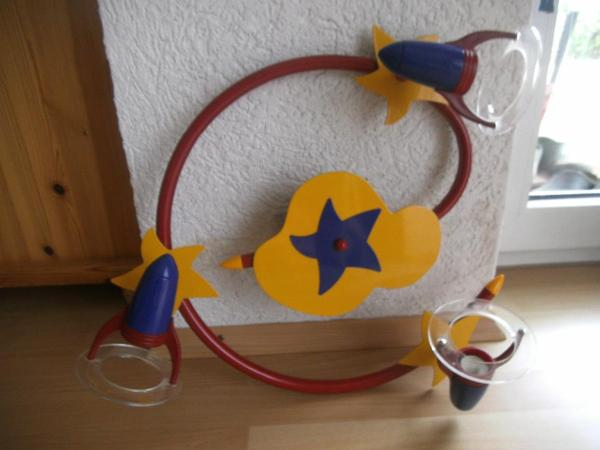Lampe - Rohrbach - Lampe für Kinderzimmer, rot-gelb-blau, 3 Strahler zu verkaufen - Rohrbach