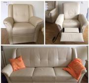 Leder Sitzgarnitur / Sofa /