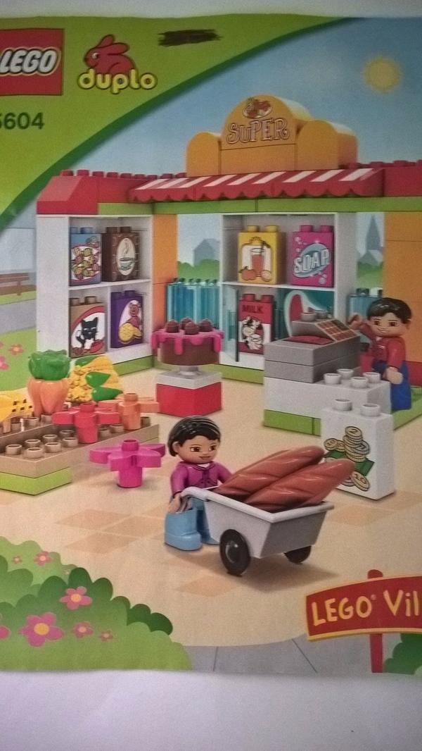"""Lego Duplo Set Supermarkt, 5604 - Ludwigshafen Süd - Ich biete das komplette Set Lego Duplo Supermarkt an inklusive Aufbauanleitung. Im Internet findet ihr das Set unter """"Lego Duplo 5604"""". Das Set wurde bespielt, ist aber in gutem Zustand und vollständig. Der Klingelknopf an der Kasse f - Ludwigshafen Süd"""