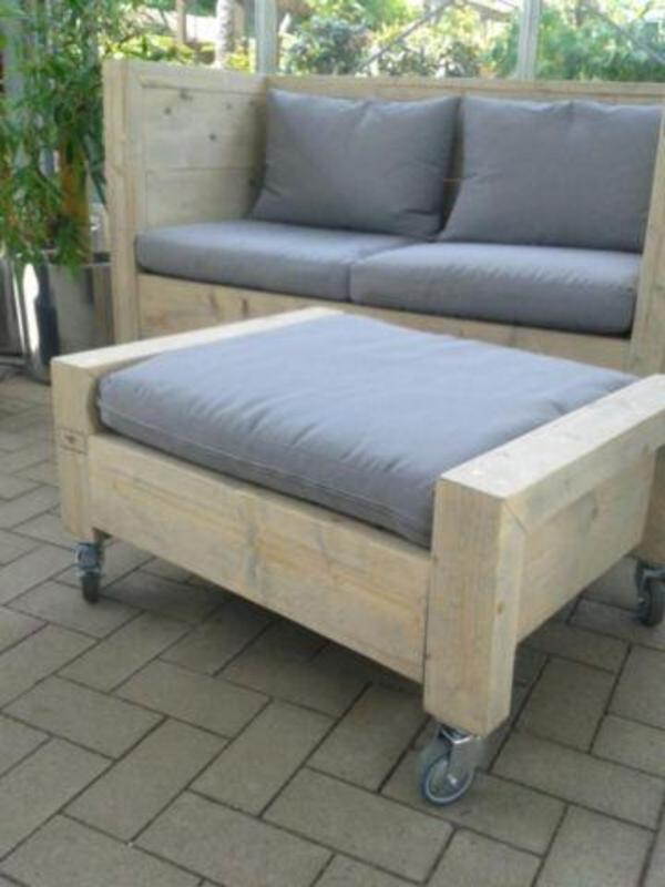 loungesofa aus bauholz in viersen gartenm bel kaufen und. Black Bedroom Furniture Sets. Home Design Ideas