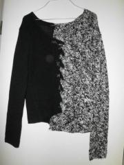 luisa cerano-schschwarz-weiss-handgeschtrickte designer pulli-gr-38-