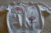 Mädchenbekleidung Pullover Jacke ital Handarbeit