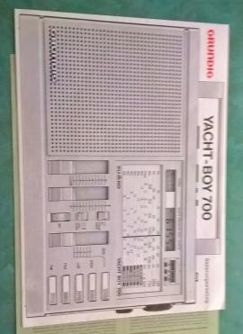 Radio, Tuner - Manual Grundig Yacht Boy 700