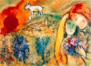 Marc Chagall Die Liebenden von