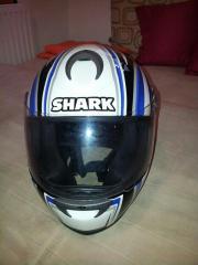 motorradhelm shark blau
