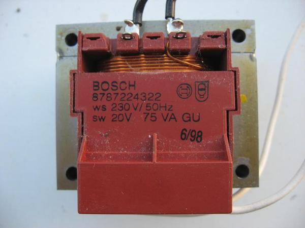 Netztrafo Bosch Comfortlift Garagentorantrieb