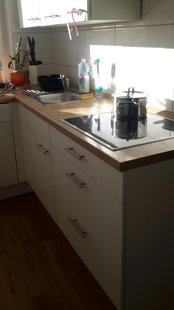 Nobilia küche weiß hochglanz fast wie neu in bobenheim
