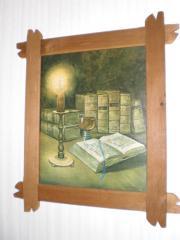 Ölbild Stillleben handsigniert mit Holzrahmen -