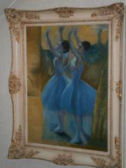 Ölbild Tänzerin in