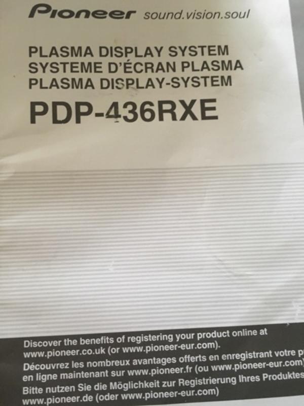 Plasma Fernseher PIONEER PDP-436RXE - Schwetzingen - Plasma Fernseher Pionieer PURE VISION BLACK PLASMA CRYSTAL LAYER mit HD Ready und integriertem digitalem und analogem TV Tuner, in sehr gute Zustand mit integrierter Receiver und HDMI zum Verkaufen.109cm DiagonalNP. 6900 gekauft von Media M - Schwetzingen