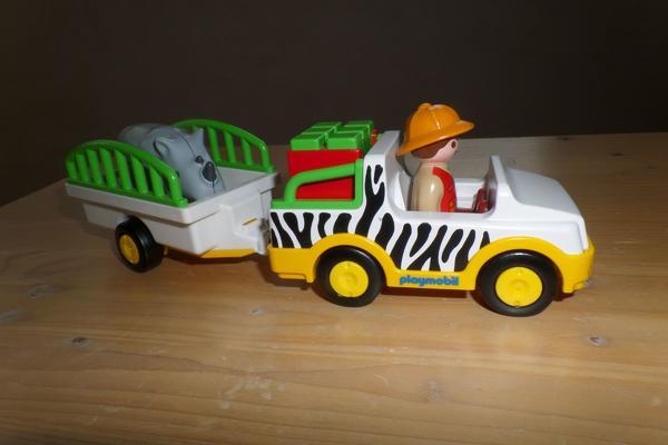 Playmobil 6743 Jeep mit Nashorn - Heilbronn Neckargartach - Playmobil 6743 Jeep mit Nashorn - Heilbronn Neckargartach