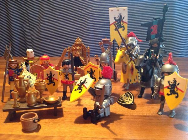 Playmobil ritterset mit vielen ritter könig thron pferde