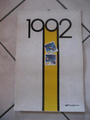 Postdienst Kalender von 1992 mit