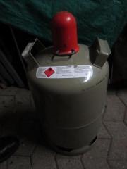 Propangasflasche Grau Leer