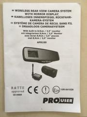 ProUser APB100 Rückfahrvideosystem,