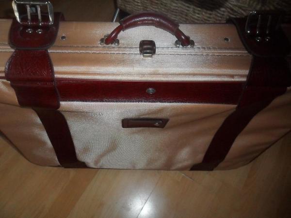 Reisekoffer mit Leder » Taschen, Koffer, Accessoires