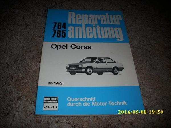 Reparaturanleitung Opel Corsa ab 1983 - Landau - Opel Corsa, ab 1983, Reparaturanleitung, Nr. 764 / 765, vom Verlag Bucheli, kaum Gebrauchsspuren, sehr gut erhalten, mit Montagebildern, Einstelltabellen und Leitungsskizzen, 124 Seiten und Schaltpläne, - Landau