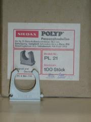 Rohrschellen PG21 für Kunststoffpanzerrohr