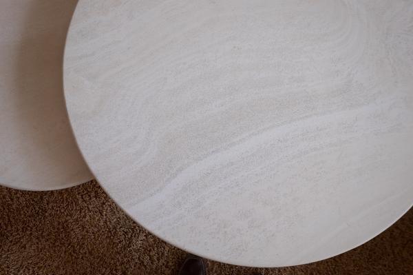Tisch rund dunkel kaufen tisch rund dunkel gebraucht for Travertin marmor tisch