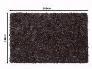 Schaggy-Teppich Echtleder,