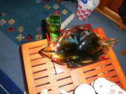 Schale und Vase aus grünem