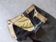Schöne alte Lederhose Kniebund Wildleder
