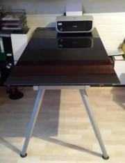 Ikea schreibtisch schwarz glas  Schreibtisch Glas Galant Ikea in Oberderdingen - Büromöbel kaufen ...