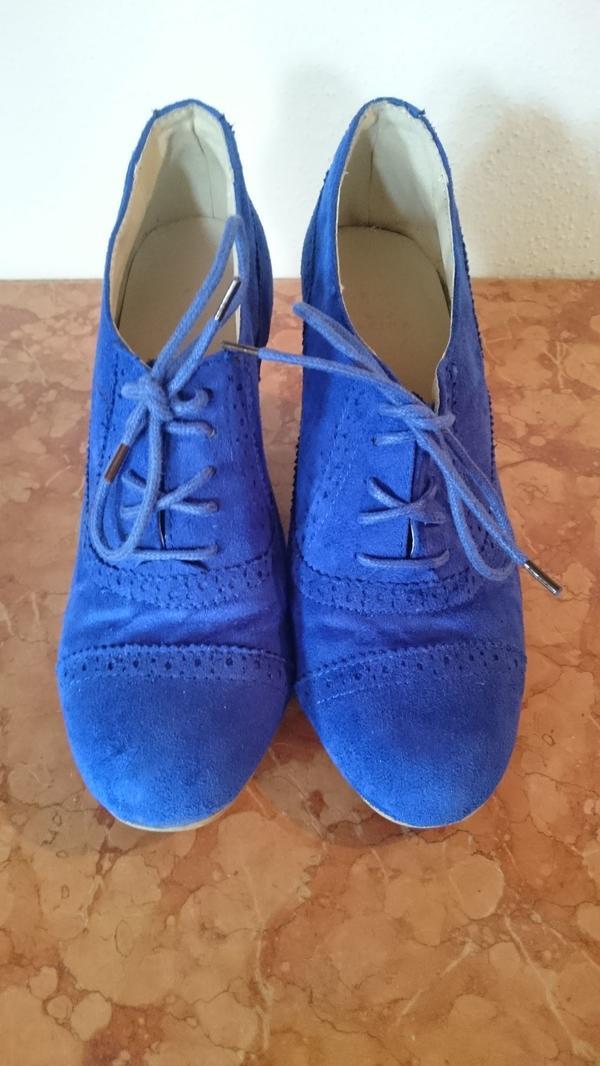 2ab7a4e1c19123 Schuhe Pumps zum Schnüren blau