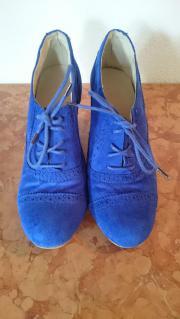 Schuhe Pumps zum Schnüren blau
