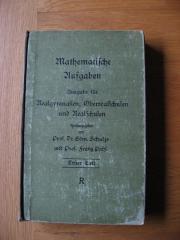 Schulbuch von 1923 Mathematische Aufgaben