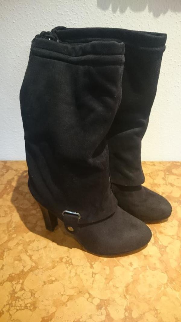 Schwarzer Stiefel Größe 38, 1 x getragen in Schechen - Schuhe ... 9decf50c26