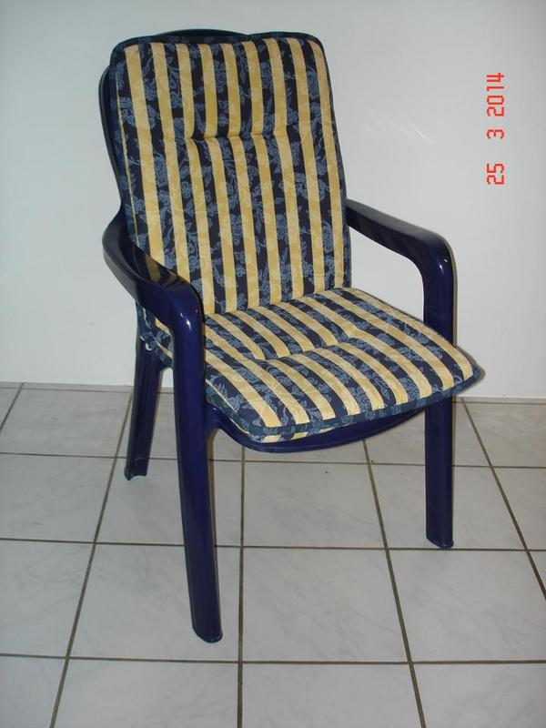 sieger gartenmöbel (5 stapelsessel, kunststoff, blau) mit auflagen, Gartenarbeit ideen
