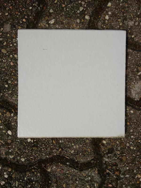 Spaltplatten Fliesen weiss glasiert 20x20cm
