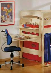 spielbett hochbett paidi fleximo 125 inkl schreibtisch schreibplatz in b hl iggelheim kinder. Black Bedroom Furniture Sets. Home Design Ideas