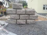 Steinform Granit Mauer