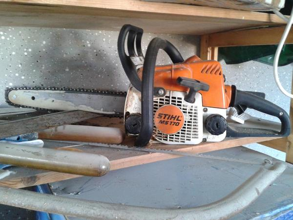 stihl ms 170 benzin motorsäge 35cm pmm3 1,2kw kettensäge, Gartengerate ideen