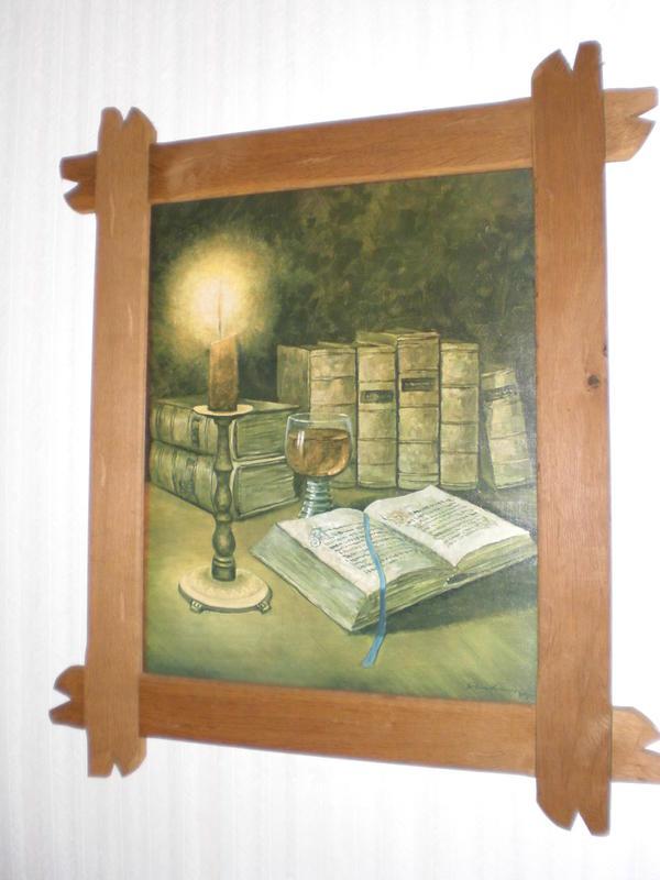 Stillleben Ölbild handsigniert mit Holzrahmen -