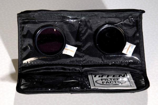 Tiffen-Softcase mit 2 Filtern