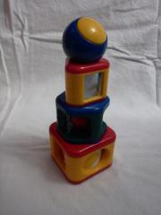 Tischspiel, Babyspielzeug, Turm,