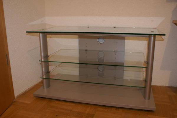 tolles tv regal glas in birkenfeld phono tv. Black Bedroom Furniture Sets. Home Design Ideas
