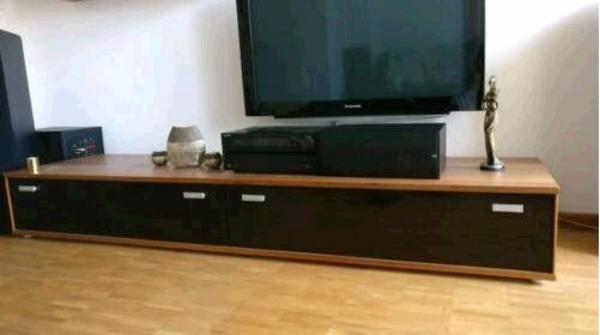 Lowboard nussbaum schwarz  TV Podest Lowboard Unterschrank klavierlack schwarz nussbaum EDEL ...