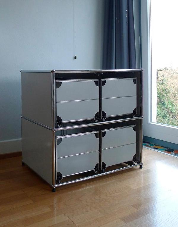 usm haller lichtgrau h ngeregister tadelloser zustand in. Black Bedroom Furniture Sets. Home Design Ideas