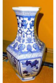 Vase Keramik blau-