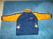 Verkaufe sportliche Kinder-Jacke blau-orange